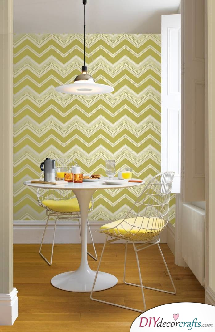 10 Wall Decor Ideas To Get You Ready For The New Season, Chevron Wall