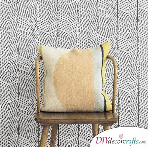 10 Wall Decor Ideas To Get You Ready For The New Season, Herringbone