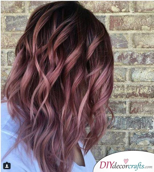 12 Fall Hair Color Ideas To Spice Things Up, Fall Rose Melt