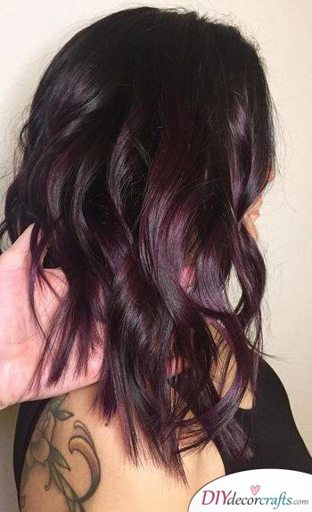 12 Fall Hair Color Ideas To Spice Things Up, Plum Brunette