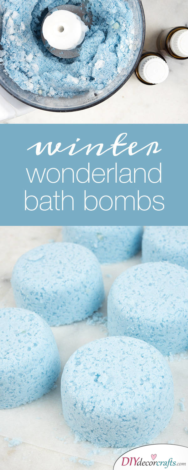 15 Homemade DIY Bath Bombs, Winter Wonderland Bath