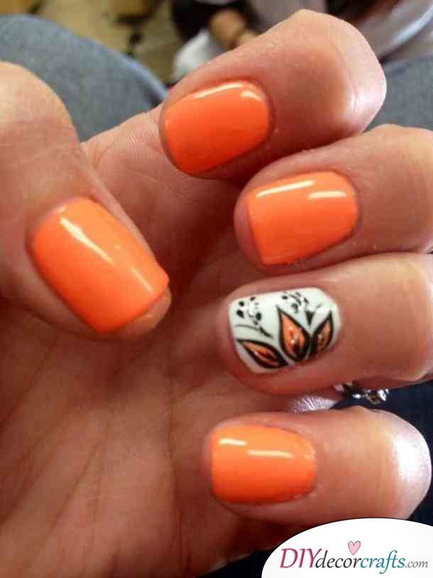 15 Trendy And Amazing Nail Designs Perfect For The Summer, Orange