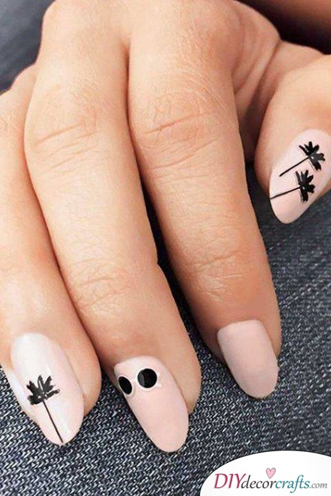 15 Trendy And Amazing Nail Designs Perfect For The Summer, Tropical Trees