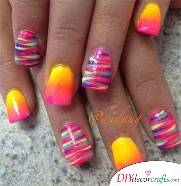 15 Trendy And Amazing Nail Designs Perfect For The Summer, Sunset