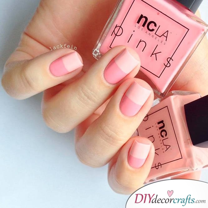 15 Trendy And Amazing Nail Designs Perfect For The Summer, Pink and White