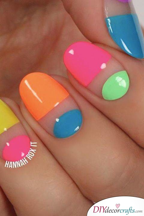 15 Trendy And Amazing Nail Designs Perfect For The Summer, Neon
