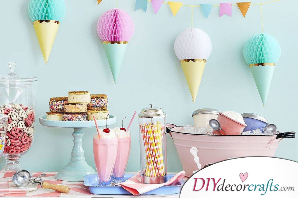 Simple DIY Party Decor Ideas For Any Occasion, Ice Cream Garland