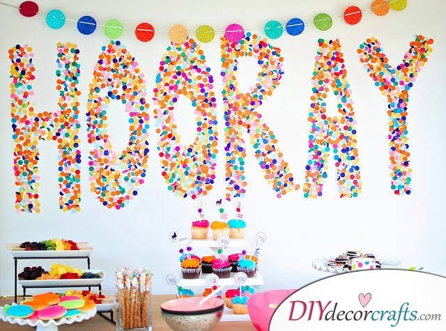 Simple DIY Party Decor Ideas For Any Occasion, Confetti Backdrop