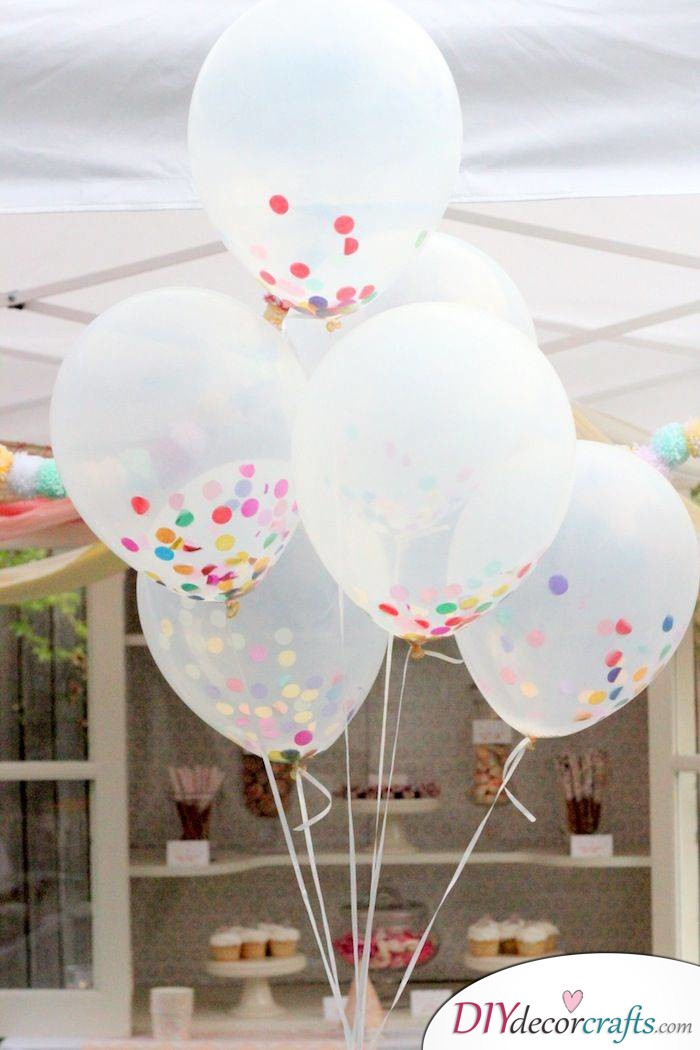 Simple DIY Party Decor Ideas For Any Occasion, Confetti-Filled Balloons