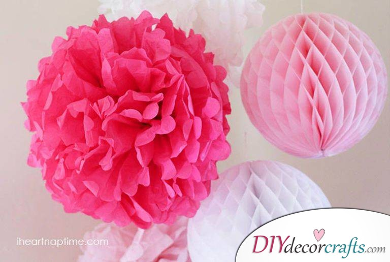Simple DIY Party Decor Ideas For Any Occasion, Tissue Paper Flowers