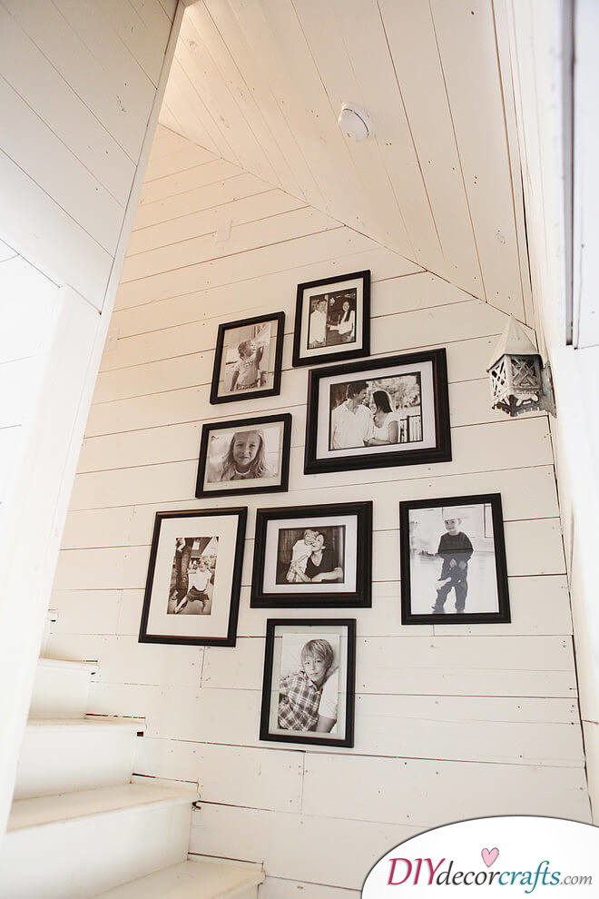 Simple Ways To Freshen Up Stairways, Monochromatic Photo Montage