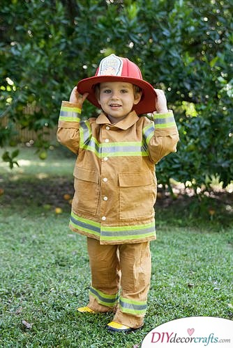 The Best DIY Halloween Costume Ideas For Kids, Firefighter