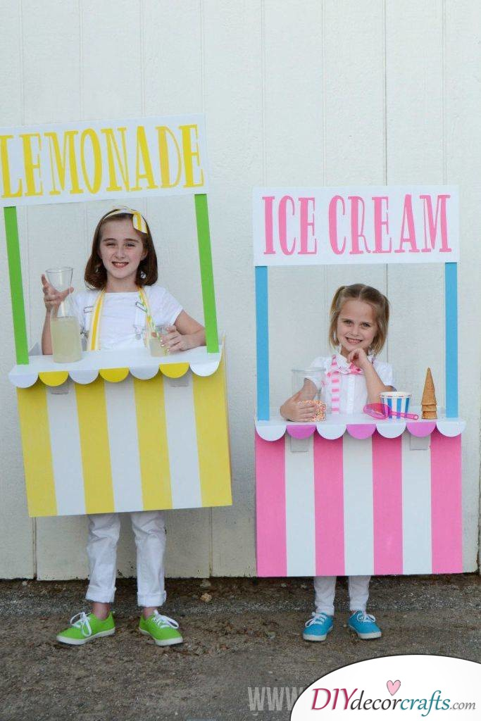 The Best DIY Halloween Costume Ideas For Kids, Ice Cream And Lemonade Stand
