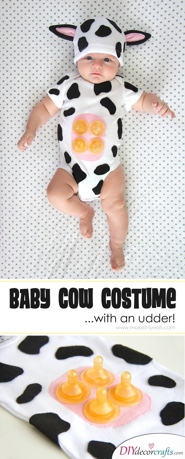 The Best DIY Halloween Costume Ideas For Kids, Baby Cow