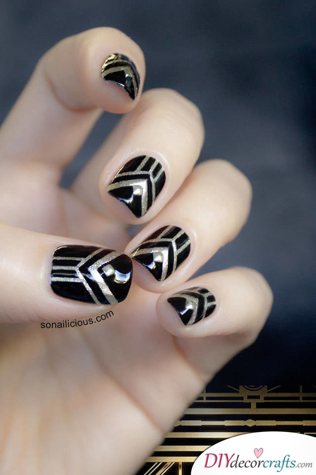 The Best Nail Art Ideas For Halloween, Great Gatsby Nails