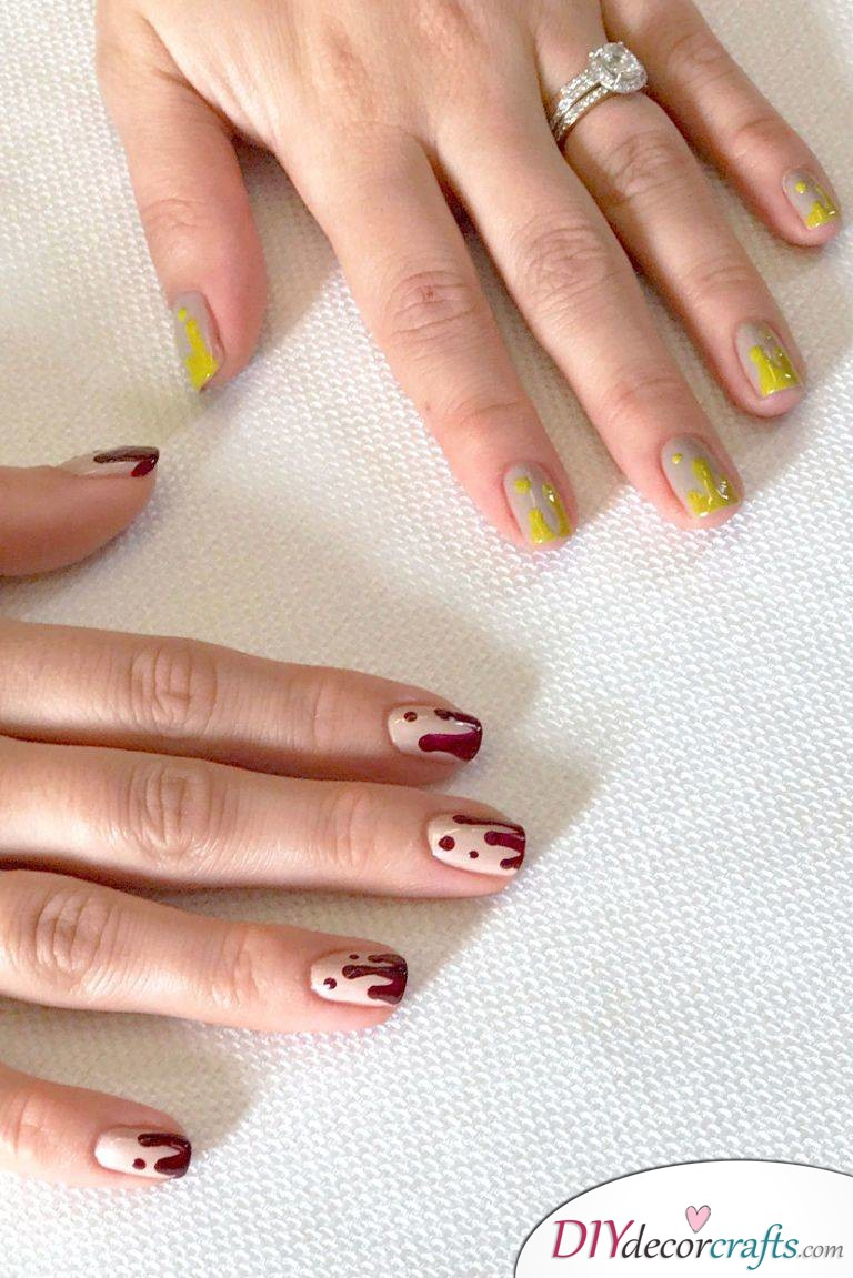 The Best Nail Art Ideas For Halloween, Drippy Tips