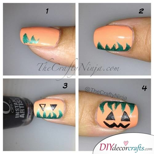 Pumpkin Nails - Halloween Nail Art