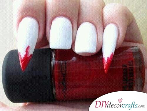 Vampire Nails - Halloween Nail Art