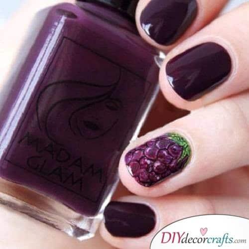 Grape - Cute and Pretty Fall Nail Art Ideas