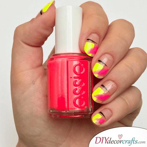 Neon colors - Cute and Pretty Fall Nail Art Ideas