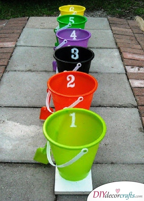 Bucket Toss - Halloween Party Game