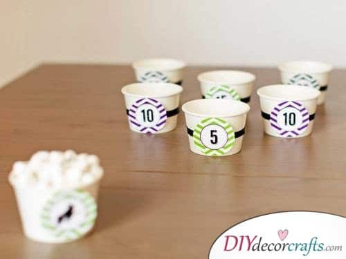 Marshmallow Toss - Halloween Party Game