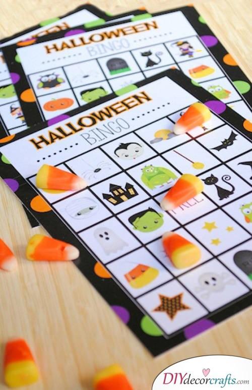 Halloween Bingo - Halloween Party Game