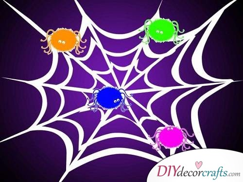 Spider Web - Halloween Party Game