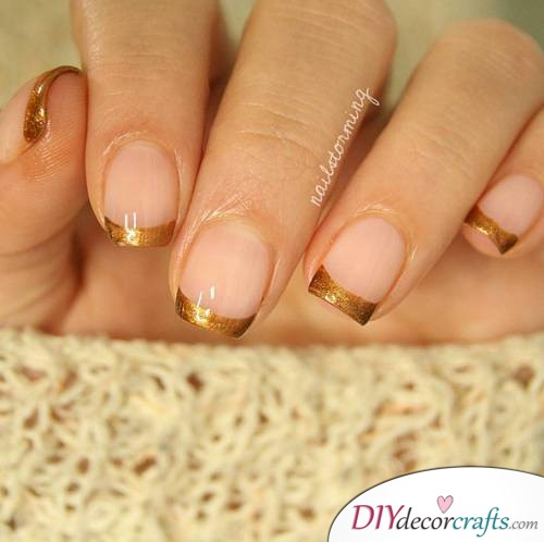 French Tip - Thanksgiving Nail Art