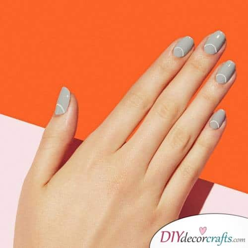 Gray Chic - Thanksgiving Nail Art