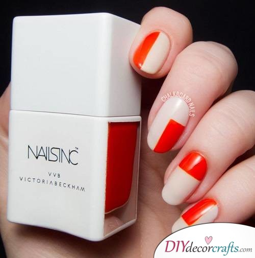 Creamy Orange - Thanksgiving Nail Art