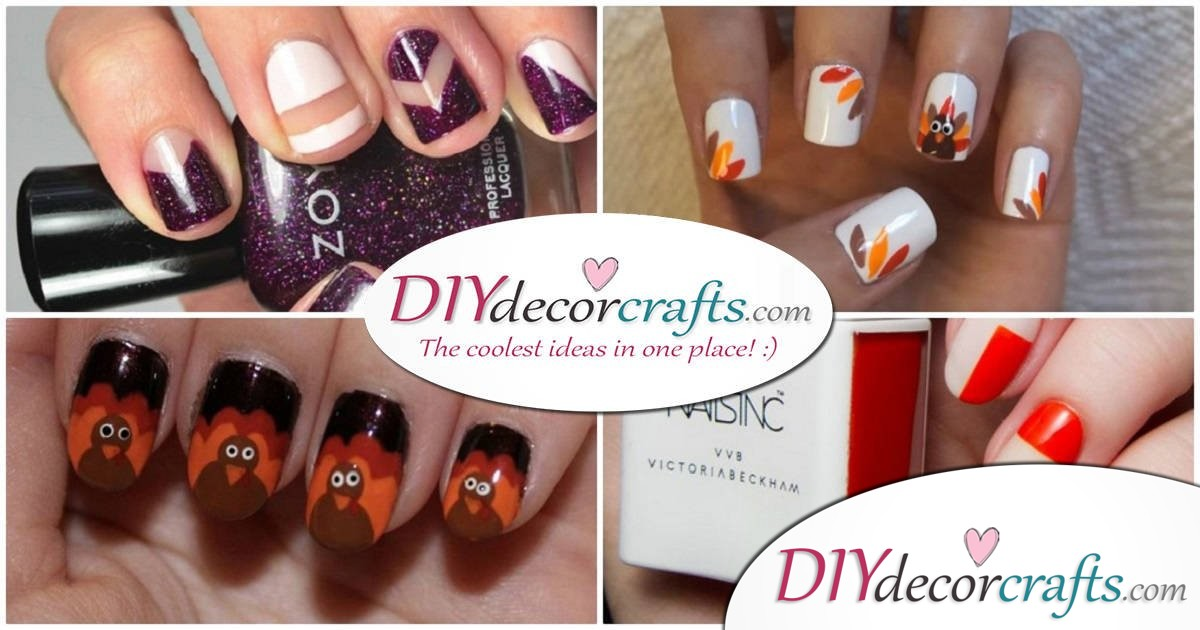 Easy Thanksgiving Nail Art Ideas Perfect All Month