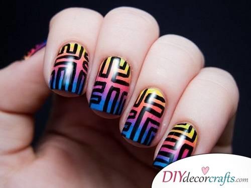 Tribal Nail - Ombre Nail Art
