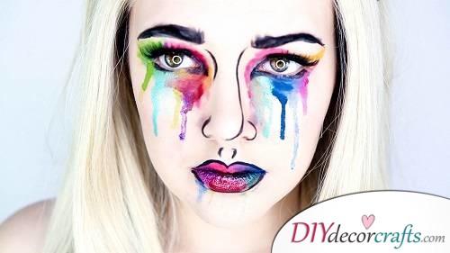 Pop Art Artsy - Halloween Makeup Design