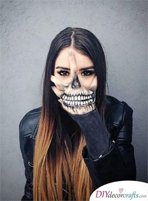 Hand Skeleton - Halloween Makeup Design