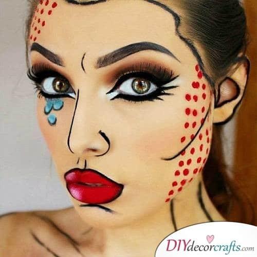 Pop Art Basic - Halloween Makeup Design