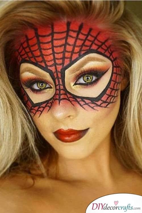 Spiderwoman - Halloween Makeup Ideas