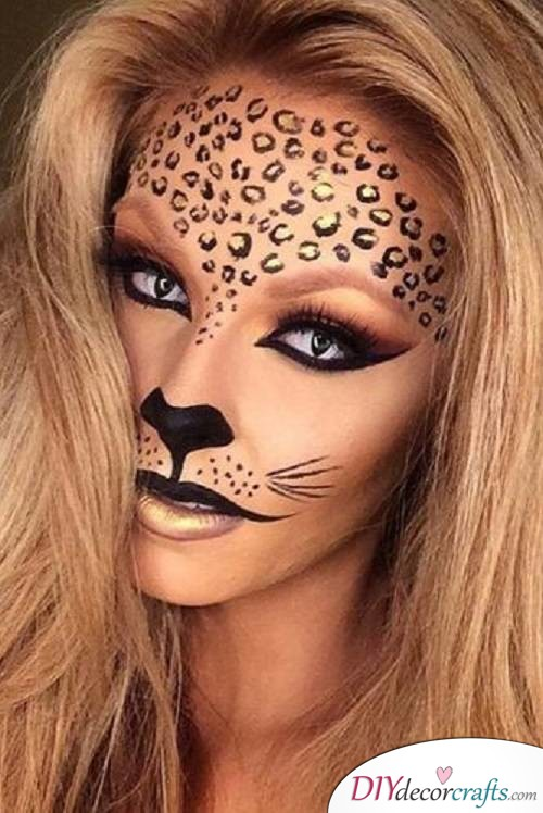 Fairy Leopard - Halloween Makeup Ideas