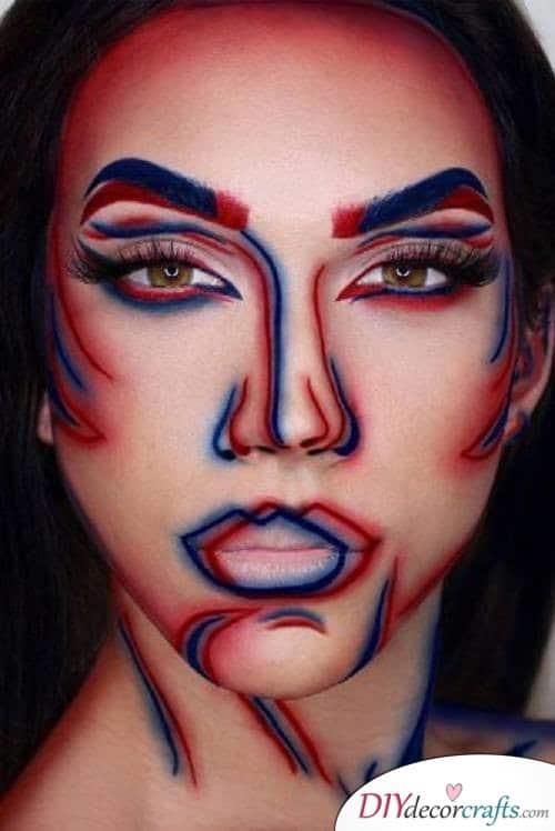 3D Makeup - Halloween Makeup Ideas