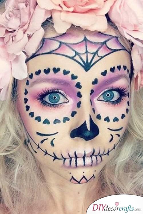 Voodo Skull - Halloween Makeup Ideas