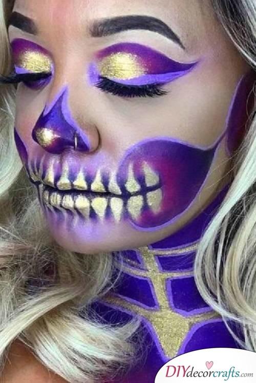 Stylistic Sugar Skull - Halloween Makeup Ideas