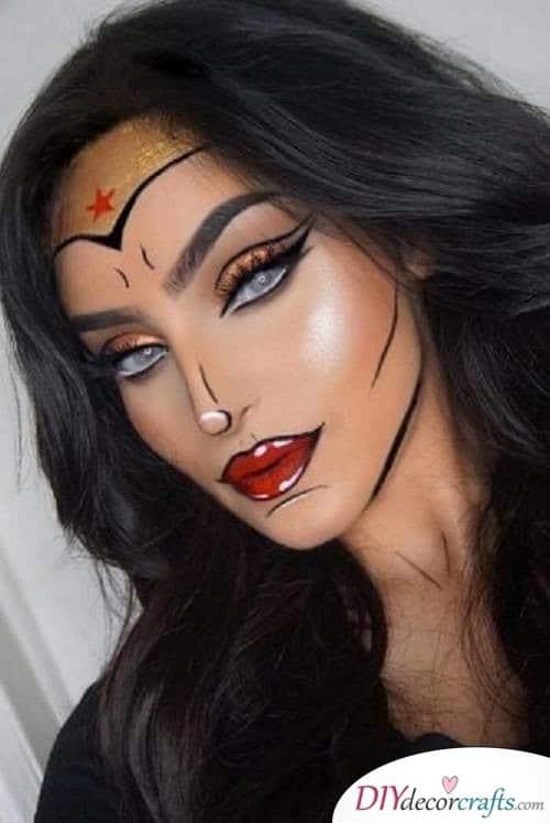 Wonder Woman - Halloween Makeup Ideas