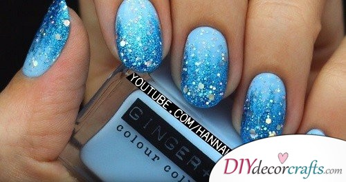 Elsa Inspired Nail - Disney Nail Art Design