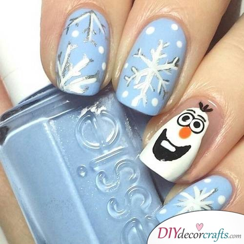 Elsa Frozen - Disney Nail Art Design
