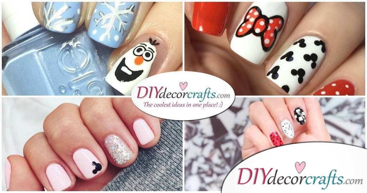 Simple Creative And Cute Disney Nail Art Design You Will Love