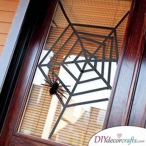 Spiderweb Window - Halloween Décor