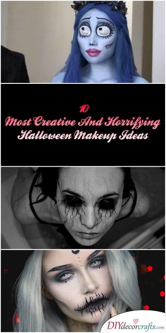 Top 10 Creative and Horrifying Halloween Makeup Ideas - DIYDecorCrafts