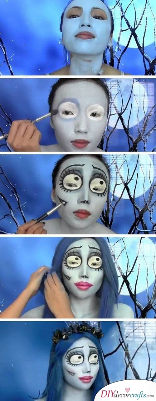 Corpse Bride - Halloween Makeup Ideas