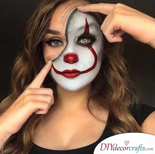 Half Clown - Halloween Makeup Ideas