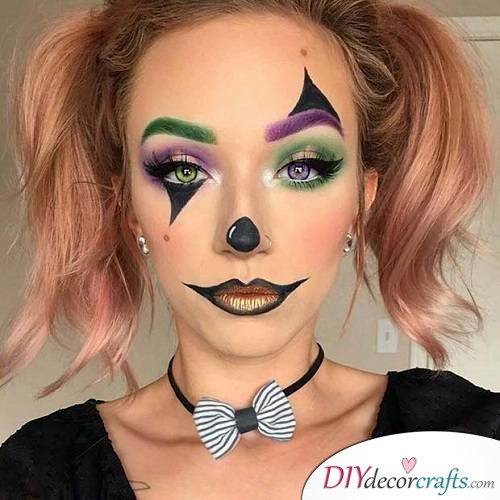 Flashy Clown - Halloween Makeup Ideas
